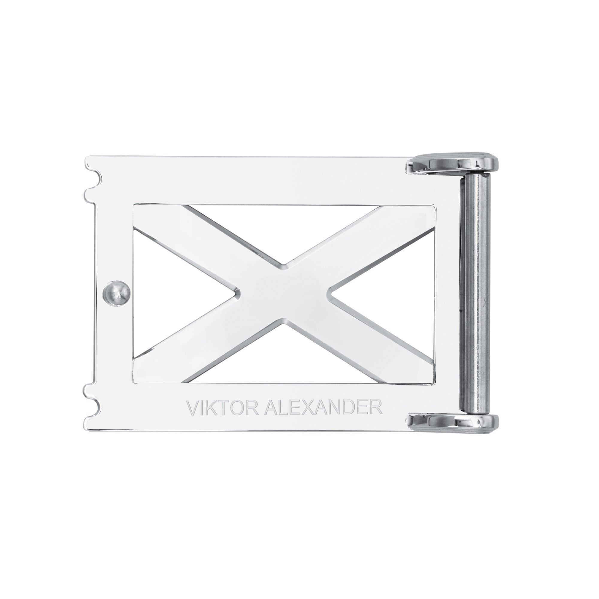 VIKTOR ALEXANDER 38MM STAINLESS STEEL BELT BUCKLE REPERTOIRE X BACK PROFILE